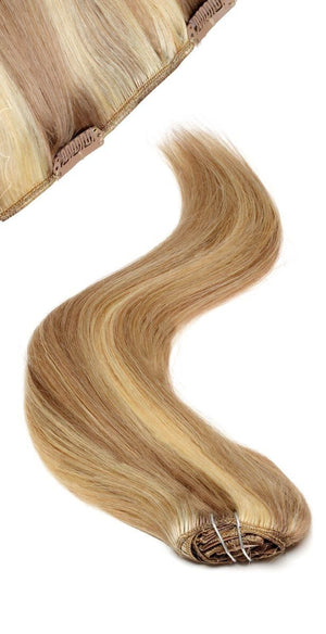 Full Head | Clip in Hair | 22 inch | Brown Blonde Blend 18/22 - Beauty Hair Products LtdHair Extensions
