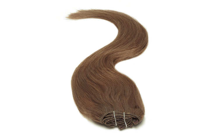 Full Head | Clip in Hair | 22 inch | Dark Mousey Brown 8B