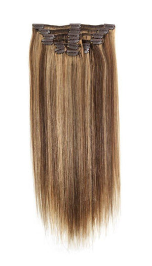 Full Head | Clip in Hair | 22 inch | Golden Blonde Blend 6/25 - Beauty Hair Products Ltd