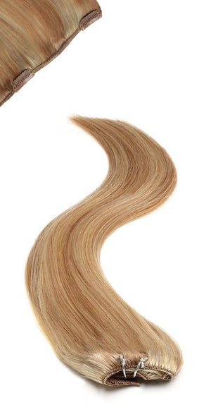 "Full Head Clip in Hair Extensions 22"" Sunkissed Blonde - Beauty Hair Products Ltd"