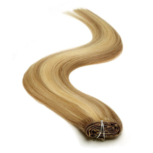 Half Head | Clip in Hair | 18 Inch | Brown Blonde Blend 18/22 - Beauty Hair Products LtdHair Extensions