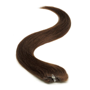Half Head | Clip in Hair | 18 Inch | Brownest Brown 2 - Beauty Hair Products LtdHair Extensions