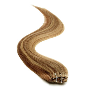 Half Head | Clip in Hair | 18 Inch | Brownie Blonde Blend 10/22 - Beauty Hair Products LtdHair Extensions