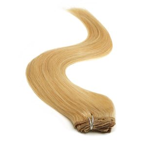 Half Head | Clip in Hair | 18 Inch | Golden Blonde Blend 24/27 - Beauty Hair Products LtdHair Extensions