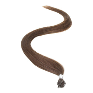 "I-Tip Human Hair Extensions 18"" Brownest Brown (2) - Beauty Hair Products LtdHair Extensions"