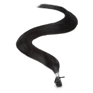 "I-Tip Human Hair Extensions 18"" Jet Black (1) - Beauty Hair Products LtdHair Extensions"