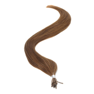 "I-Tip Human Hair Extensions 18"" Light Brown (6) - Beauty Hair Products Ltd"