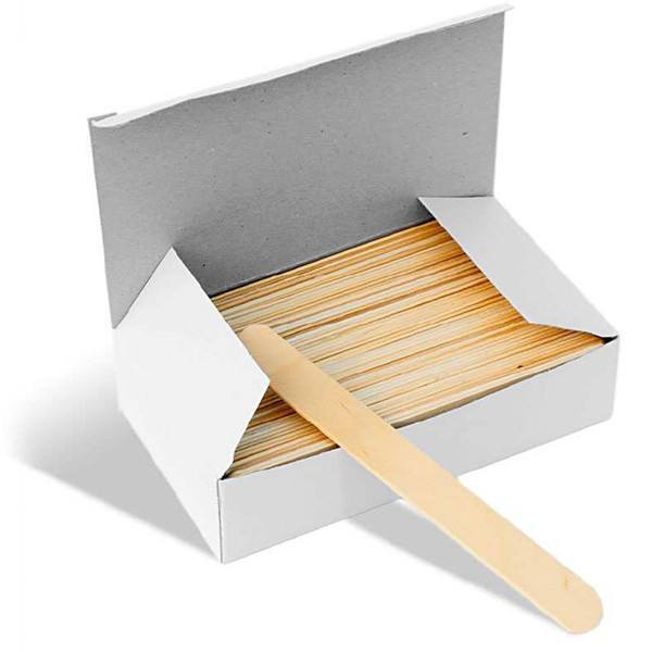 Large Wooden Waxing Spatulas 100/pack