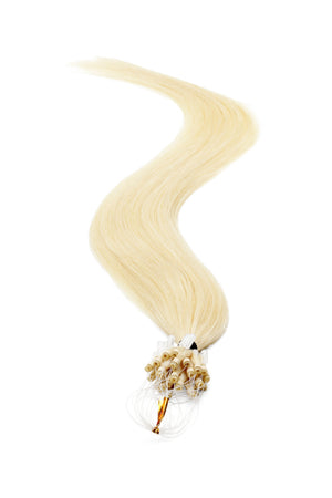 Micro Ring Hair Extensions | 18 inch Platinum Blondest Blonde 600 - Beauty Hair Products LtdHair Extensions