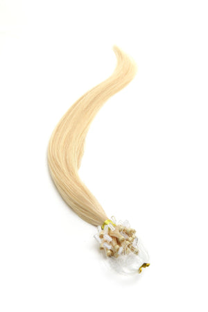 Micro Ring Hair Extensions | 22 inch Blondest Blonde (60) - Beauty Hair Products Ltd