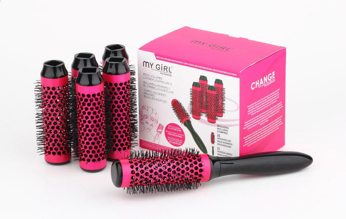 My Girl Thermal Hair Brush Rose Red Diameter Size: 1.34""