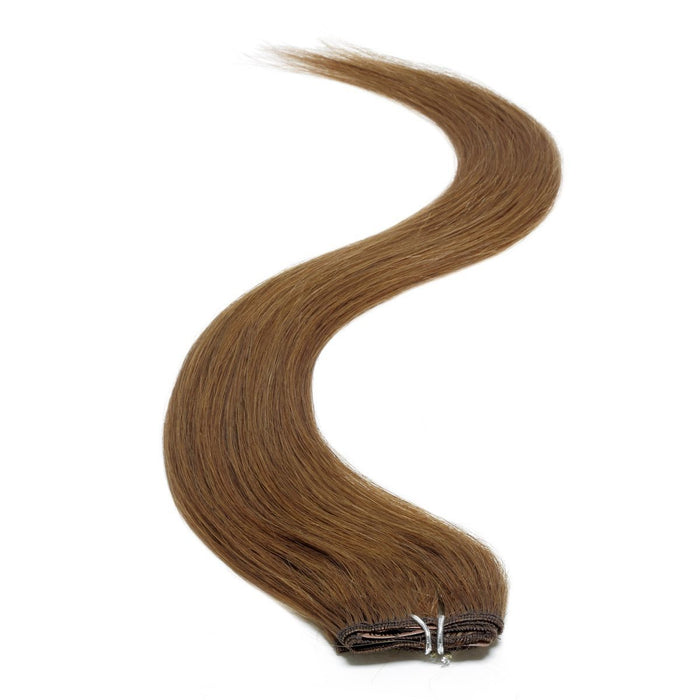 "Single Weft Clip in Hair 18"" Dark Brown 3"