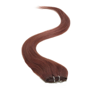 "Single Weft Clip in Hair 18"" Fiery Brown 080 - Beauty Hair Products Ltd"
