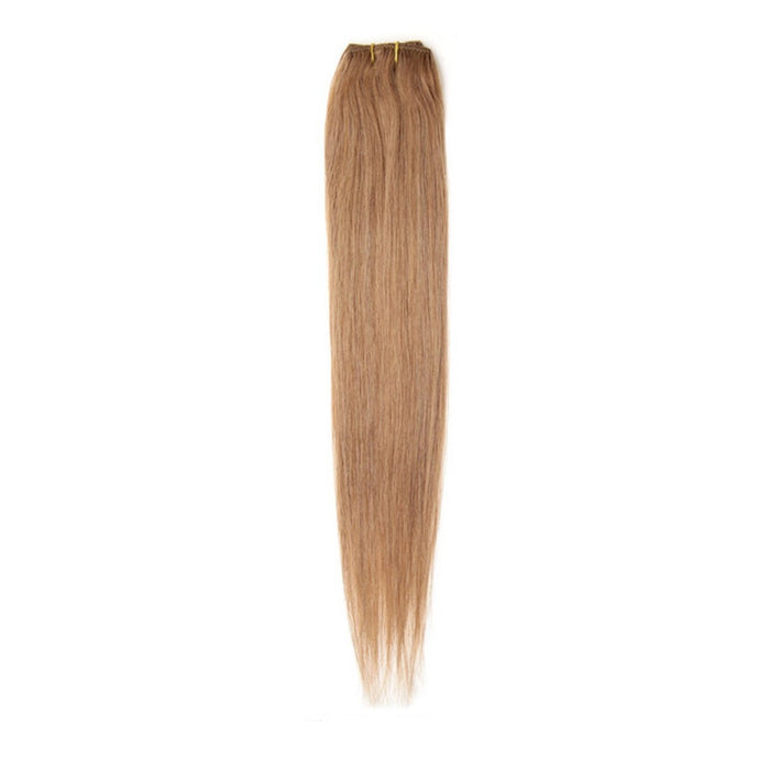 "Single Weft Clip in Hair 18"" Golden Brown 12"