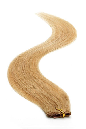 "Single Weft Clip in Hair 18"" Light Caramel Brown (16) - Beauty Hair Products LtdHair Extensions"