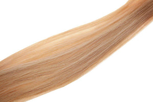 "Single Weft Clip in Hair 18"" Light Golden Blonde Brown 25 - Beauty Hair Products Ltd"