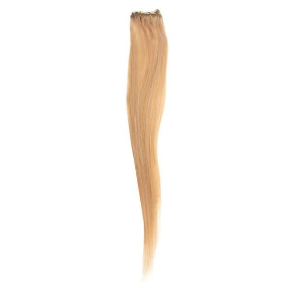 "Single Weft Clip in Hair 18"" Light Golden Blonde Brown 25"
