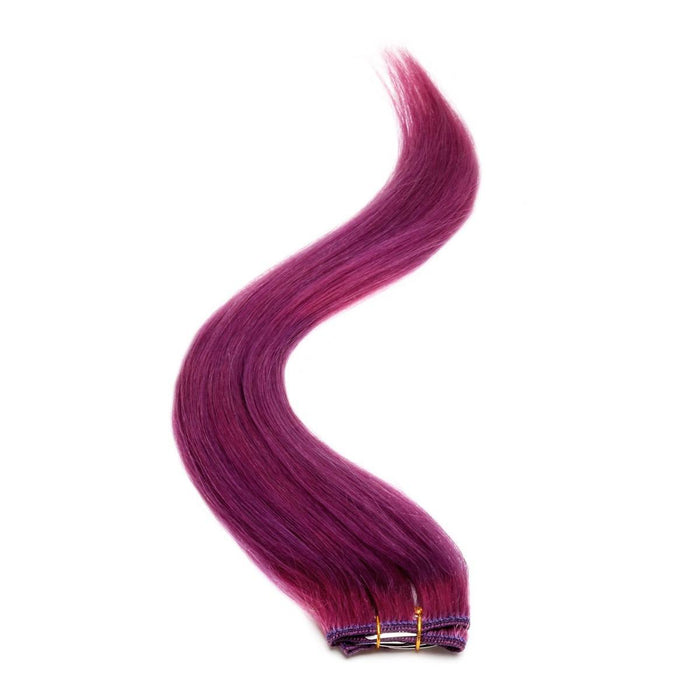 "Single Weft Clip in Hair 18"" PURPLE"