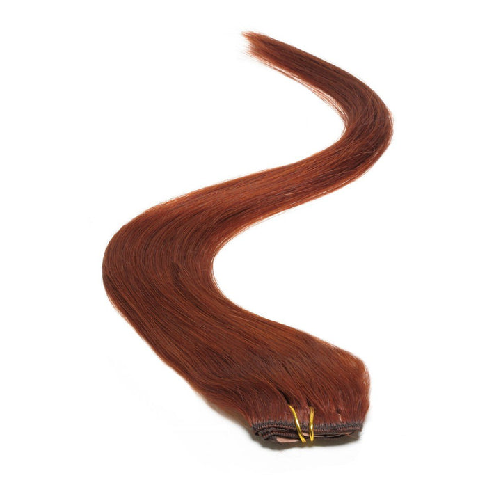 "Single Weft Clip in Hair 18"" Spiced Auburn 32"