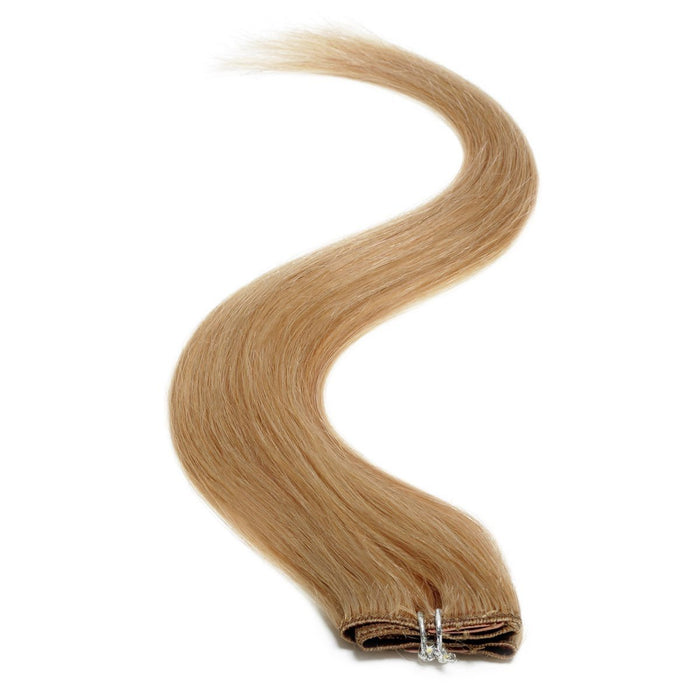 "Single Weft Clip in Hair 18"" Warm Blonde Blend 27s"
