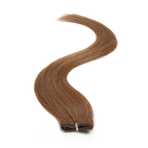 "Single Weft Clip in Hair 18"" Warm Brown 4lb - Beauty Hair Products LtdHair Extensions"