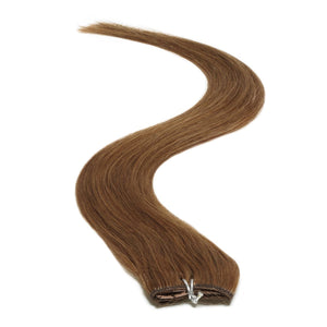 "Single Weft Clip in Hair 18"" Warm Brown 6 - Beauty Hair Products LtdHair Extensions"
