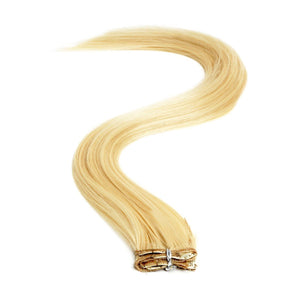 Synthetic Clip In Extensions | 18 Inch Colour 22 Sunshine Blonde - Beauty Hair Products LtdHair Extensions