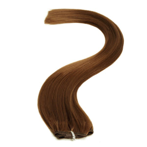 Synthetic Clip In Extensions | 18 Inch Colour 4 Dark Brown - Beauty Hair Products LtdHair Extensions