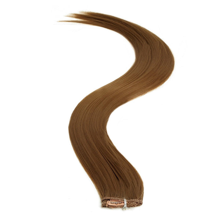 Synthetic Clip In Extensions | 18 Inch Colour 8 Mousey Brown