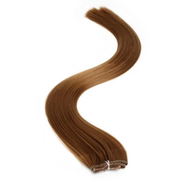 Synthetic Clip In Extensions | 18 Inch Light Brown (6)