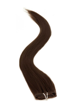 Synthetic Clip In Hair Extensions | 18 Inch Brown Col:2 - Beauty Hair Products LtdHair Extensions