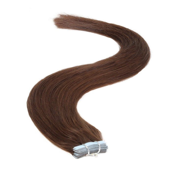 Tape in Hair Extensions | 18 inch | 20ps | 50g | Darkest Brown (2)