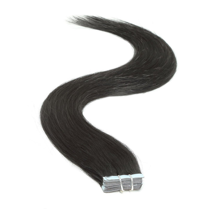 Tape in Hair Extensions | 18 inch | 20ps | 50g | Jet Black (1)