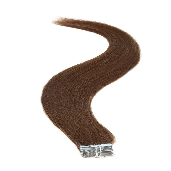 Tape in Hair Extensions | 18 inch | 20ps | 50g | Mocha Brown (4)