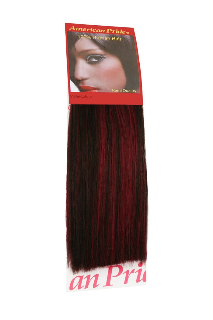 "Yaki Weave Hair Extensions 8"" Colour: 1B Burgundy"