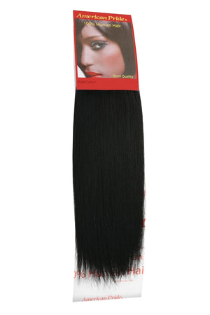 Yaki Weave | Human Hair Extensions | 10 Inch | Jet Black (1) - Beauty Hair Products Ltd