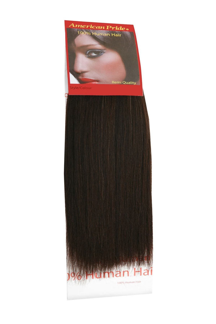 Yaki Weave | Human Hair Extensions | 8 Inch | Barely Black (1B)