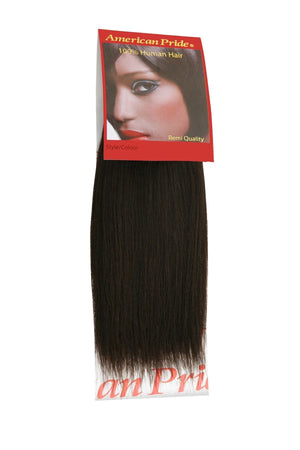 Yaki Weave | Human Hair Extensions | 8 Inch | Brownest Brown (2) - Beauty Hair Products LtdHair Extensions