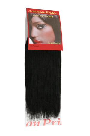 Yaki Weave | Human Hair Extensions | 8 Inch | Jet Black (1) - Beauty Hair Products LtdHair Extensions