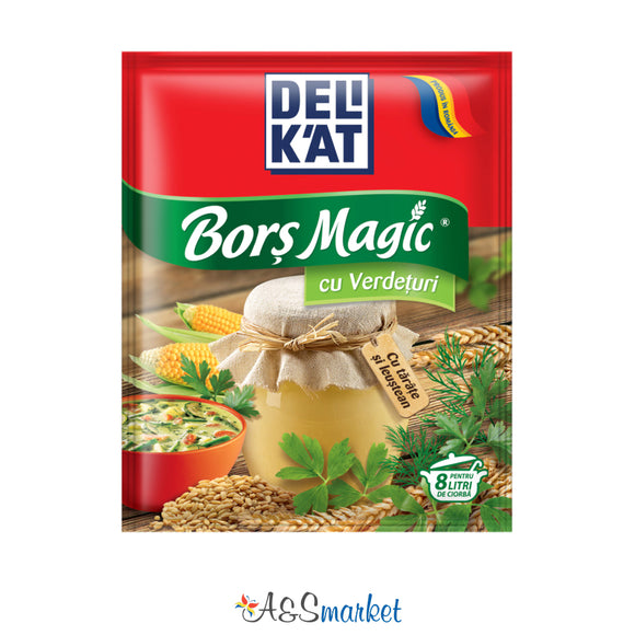 Borș magic cu verdețuri - Delikat - 65g
