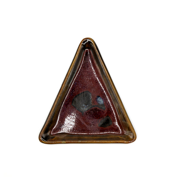 Handmade Red Triangle Plate