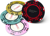 Casino Royale Poker Chip Coasters