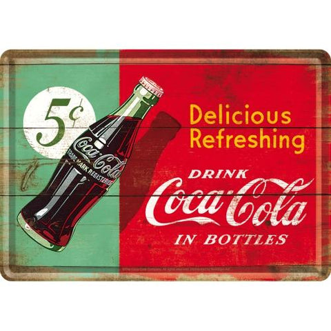 Coca Cola Metal Postcard