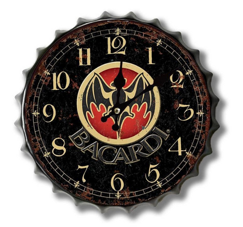 Bacardi Bottle Top Clock