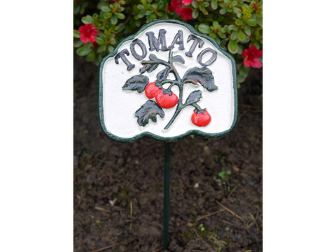 Tomato Cast Iron Garden Veg Sign