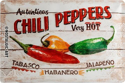 Chili Peppers 20x30cm Tin Sign