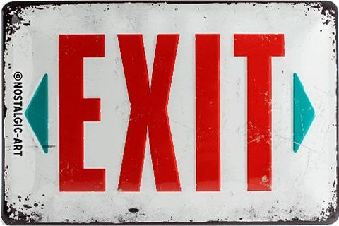 Exit 20x30cm Tin Sign