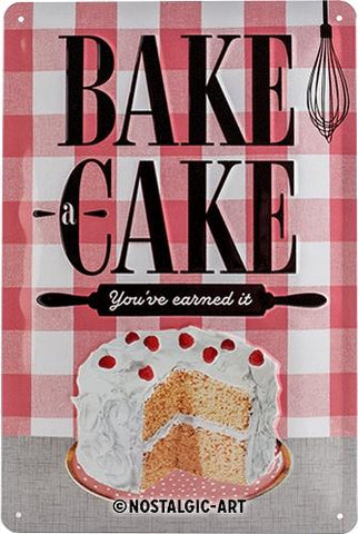 Bake a Cake 20 x 30cm Tin Sign