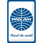 Pan Am Travel The World 20x30cm Tin Sign
