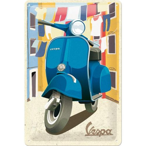 Vespa Italian Laundry 20x30cm Tin Sign